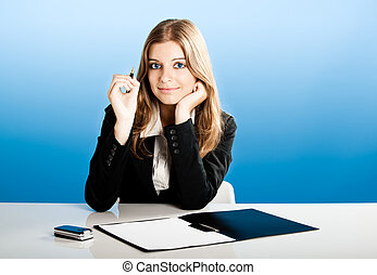 Business Woman - Portrait of a beautiful and business woman...