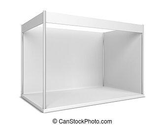 Trade show booth. 3d illustration isolated on white...