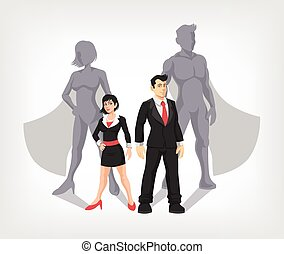 Businessman and business woman - Businessman and business...