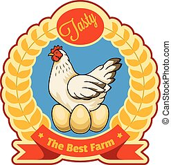 Chicken and eggs badge