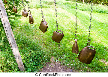 bells - musical instruments made by several bells of...