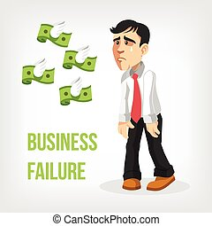 Businessman loss money