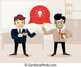 Business life. Vector flat illustration