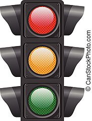 Traffic lights. Vector illustration