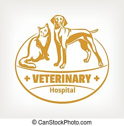 Pet clinic logo Vector illustration