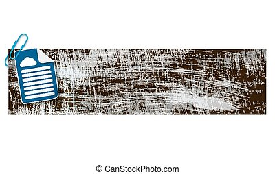 banner with scratches background and document and cloud