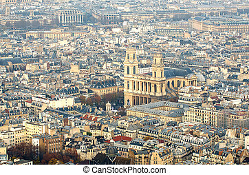 Aerial view of Paris (France)