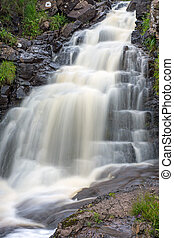 Waterfall in Scotland - Waterfall on the Isle of Skye in...