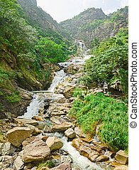 Sri Lanka , Ella - Rawana waterfall