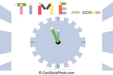 Time for school - Blue background for students preparing to...
