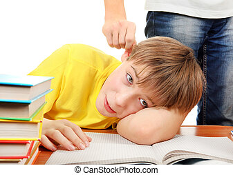 Naughty Schoolboy - Parent threatening Son for a Learning on...