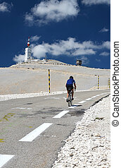 Tour de France - biker on Mont Ventoux