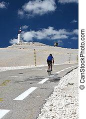 Tour de France  - biker on Mont Ventoux