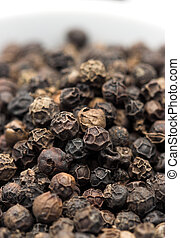 black pepper corn close up shallow dof