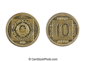 coin Yugoslavia - isolated object on white - coin Yugoslavia...
