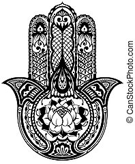 Vector Indian hand drawn hamsa  - Hamsa symbol