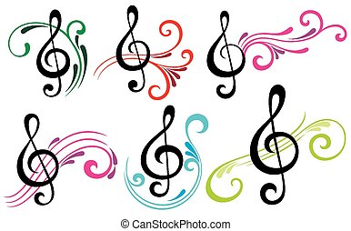 Music notes - Vector music icons