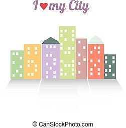 Colorful vector illustration of the city