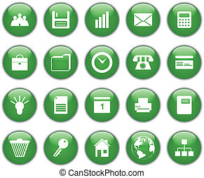 business and office icons set - Business and office set of...