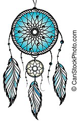 Indian Dream Catcher - Vector Dream Catcher