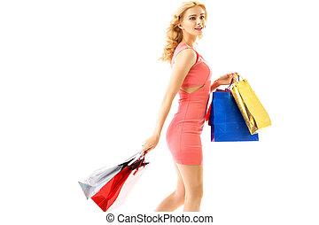 senhora,  CÙte,  shopping, durante
