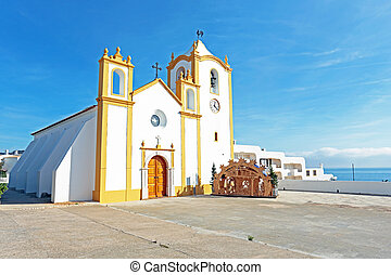 Church of Our Lady of the Light Nossa Senhora da Luz in Luz,...