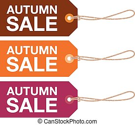 autumn sale sign set