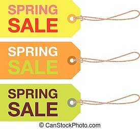 spring sale sign set