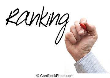 Hand Writing 'Ranking' - A Photo / Illustration of a Hand...