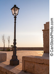 Old fashioned street lamp - Scenic view of old fashioned...