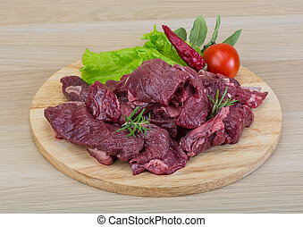 Raw venison - Raw wild venison meat - ready for cooking