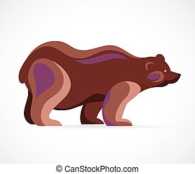 Bear symbol - vector illustration