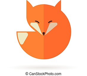 Fox icon, illustration and element - Fox sign, illustration...