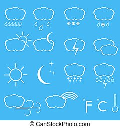 Vector icons of weather.