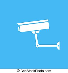 Camera surveillance protection Vector icon