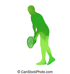 Abstract vector tennis player