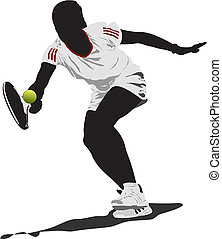 Tennis player. Vector illustration