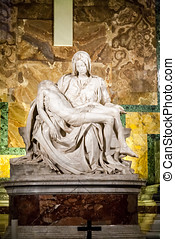 Pieta sculpture - Famous Pieta sculpture by Michelangelo in...