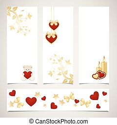 Templates for valentine's day banners