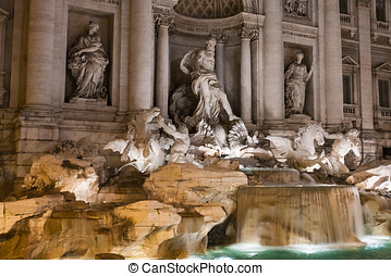 Trevi Fountain - Some beautiful famous places in rome