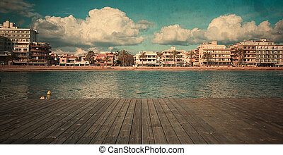 Landscapes of Mallorca - vintage beach of the island of...