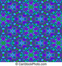 Purple and blue mandala art - Vividly bold purple, blue and...