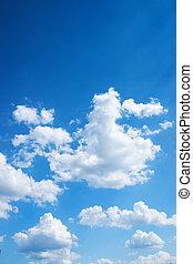 鮮艷, 明亮, 藍色, 天空, 背景