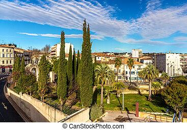 Jardin, des, Potiers, 在, Montpellier, -, 法國,...