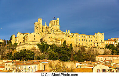 View of St Nazaire Cathedral in Beziers, France