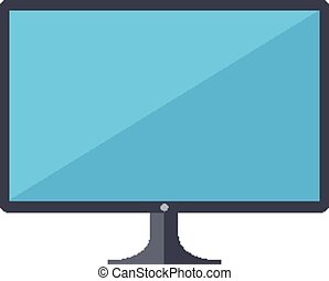 LCD flat screen - Isolated icon pictogram Eps 10 vector...
