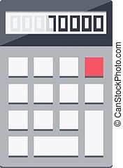 Calculator. - Isolated icon pictogram. Eps 10 vector...