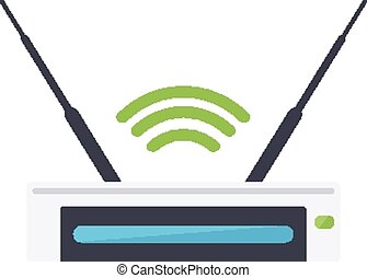 Router. - Isolated icon pictogram. Eps 10 vector...