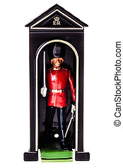 watch box sentry - a tin british guard in a watch box...