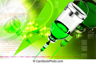 Drip	 - Digital illustration of drip in colour background